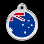 Dark Blue Australian Flag Pet Tag
