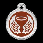 Brown Angel Wings Pet Tag