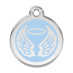 Light Blue Angel Wings Pet Tag