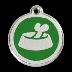 Green Bone in Bowl Pet Tag