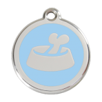 Light Blue Bone in Bowl Pet Tag