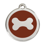 Brown Bone Pet Tag