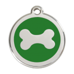 Green Bone Pet Tag
