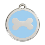 Light Blue Bone Pet Tag