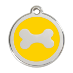 Yellow Bone Pet Tag