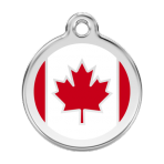 Red Canadian Flag Pet Tag