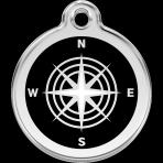 Black Compass Pet Tag