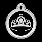 Black Crown Pet Tag