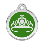 Green Crown Pet Tag