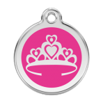 Hot Pink Crown Pet Tag