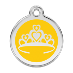 Yellow Crown Pet Tag