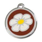Brown Daisy Pet Tag