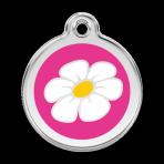 Hot Pink Daisy Pet Tag