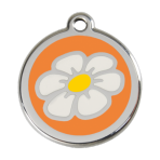 Orange Daisy Pet Tag