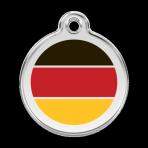 Red German Flag Pet Tag