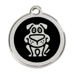 Black Dog Pet Tag