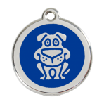 Dark Blue Dog Pet Tag