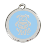 Light Blue Dog Pet Tag