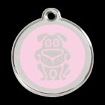 Pink Dog Pet Tag