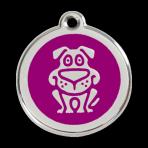 Purple Dog Pet Tag