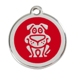 Red Dog Pet Tag