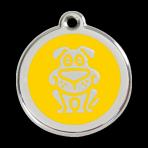 Yellow Dog Pet Tag