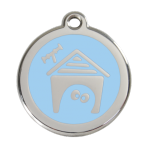 Light Blue Dog House Pet Tag
