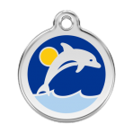 Dark Blue Dolphin Pet Tag