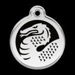 Black Dragon Pet Tag