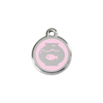 Pink Fish Bowl Pet Tag