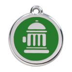 Green Fire Hydrant Pet Tag