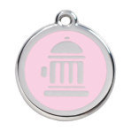 Pink Fire Hydrant Pet Tag