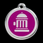 Purple Fire Hydrant Pet Tag