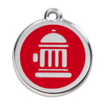 Red Fire Hydrant Pet Tag