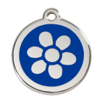 Dark Blue Flower Pet Tag