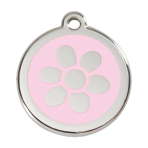 Pink Flower Pet Tag