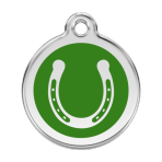 Green Horseshoe Pet Tag