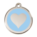 Light Blue Heart Pet Tag