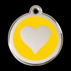 Yellow Heart Pet Tag
