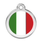White Italian Flag Pet Tag