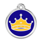 Dark Blue King Pet Tag