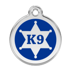 Dark Blue K9 Sheriff Pet Tag