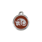 Brown Kitten Pet Tag