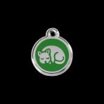 Green Kitten Pet Tag