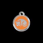Orange Kitten Pet Tag