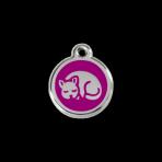 Purple Kitten Pet Tag