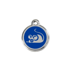 Dark Blue Mouse Pet Tag