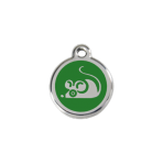 Green Mouse Pet Tag