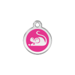 Hot Pink Mouse Pet Tag