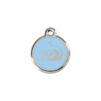 Light Blue Mouse Pet Tag